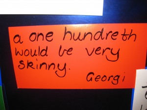 Student's insights are recorded and displayed on our Maths display.