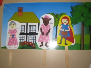Little Red Riding Hood Stick puppets reading for great story telling!